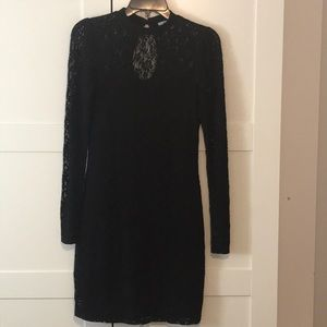Kimchi Blue long-sleeves lace black dress